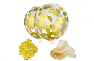 Гелиевые шары с золотым конфетти