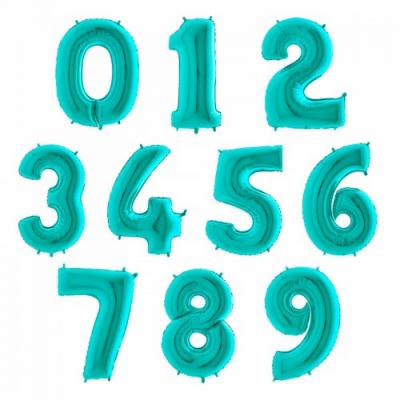 Шары в форме цифр (Бирюзовый цвет)