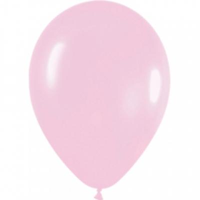 Светло-розовые гелиевые шары