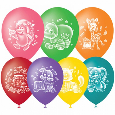 Гелиевые шары со зверушками