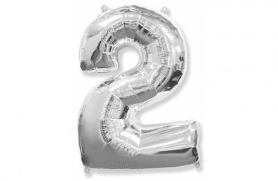 Большая цифра 2 (гелиевая)