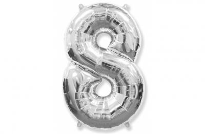 Большая цифра 8 (гелиевая)