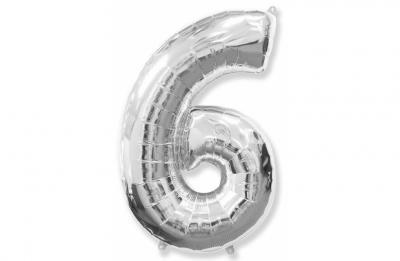 Большая цифра 6 (гелиевая)