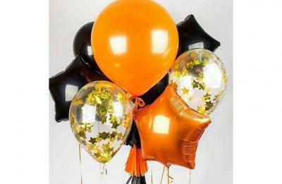 Оранжевая звезда (гелиевая)