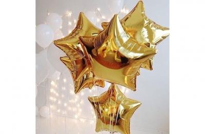 Золотая звезда (гелиевая)