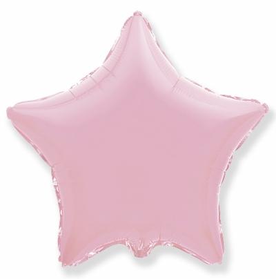 Розовая звезда (гелиевая)