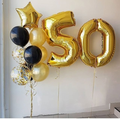 Цифра 50 + фонтан