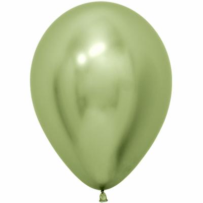 Гелиевые шары ХРОМ лайм