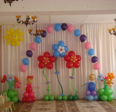 Оформление зала детского сада №39
