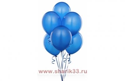 Синие гелиевые шарики