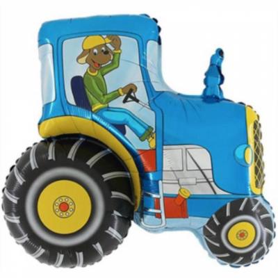 Трактор с собакой