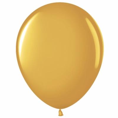 Золотые гелиевые шарики