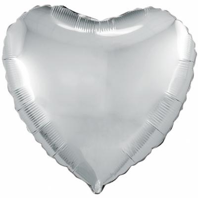Серебряное сердце (гелиевый шар)