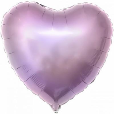 Сиреневое сердце (гелиевый шар)