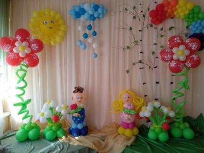 Украшение детского сада на выпускной №29