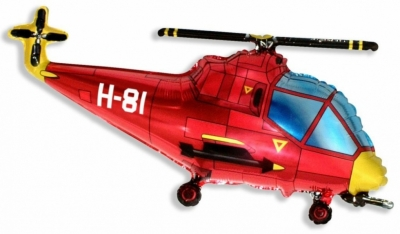 Вертолет красный