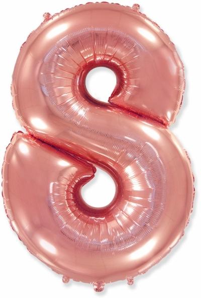 Большая цифра 8 (розовое золото)