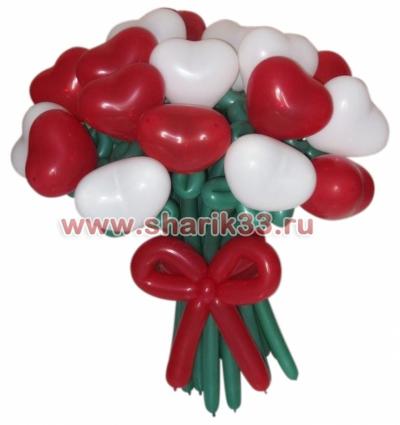 Цветы сердечки (19 штук)