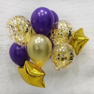 Фиолетово-золотой сет