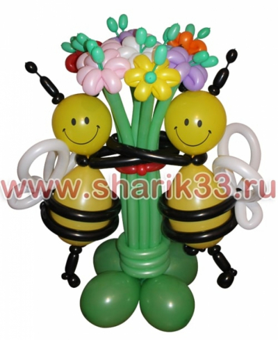 Пчелки с цветами (11 шт.)