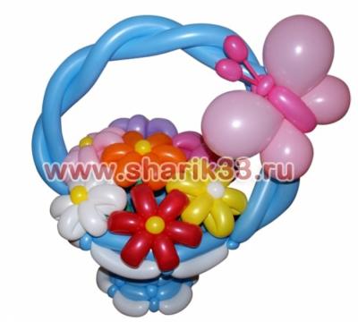 Корзинка из шаров