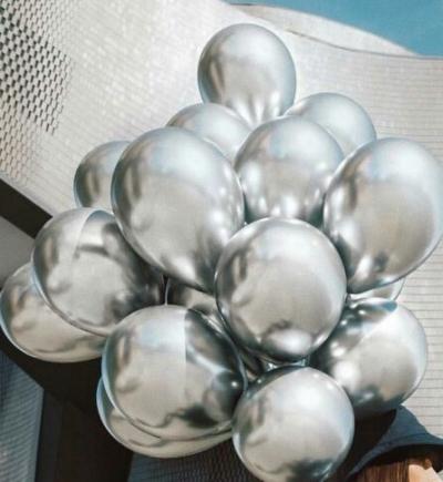 Гелиевые шары ХРОМ серебряные