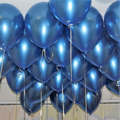 Гелиевые шары ХРОМ синие