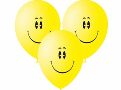 Гелиевые шары желтые смайлы