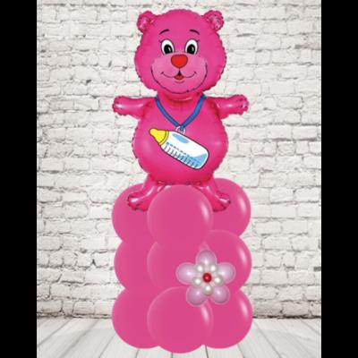 Розовый мишка для девочки