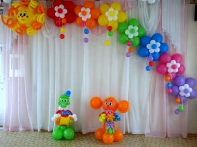 Оформление зала в детском саду № 121