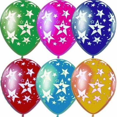 Гелиевые шары со звездами