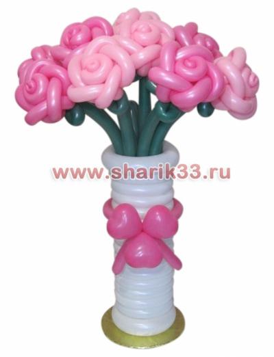Ваза: 7 роз