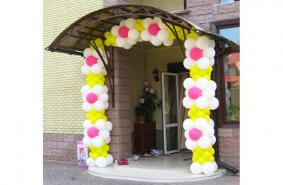 Арка из шаров для входа