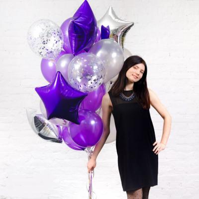 Серебряно-фиолетовый набор
