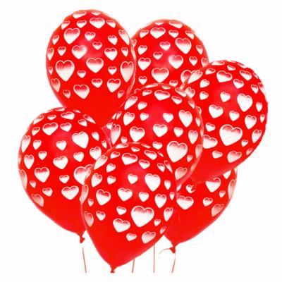 Гелиевые шары с сердечками