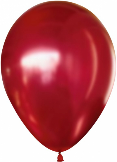 Гелиевые шары ХРОМ красный