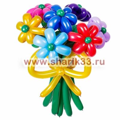 Букет из 7 цветочков из шаров