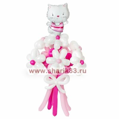 Букетик 7 ромашек + Hello Kitty
