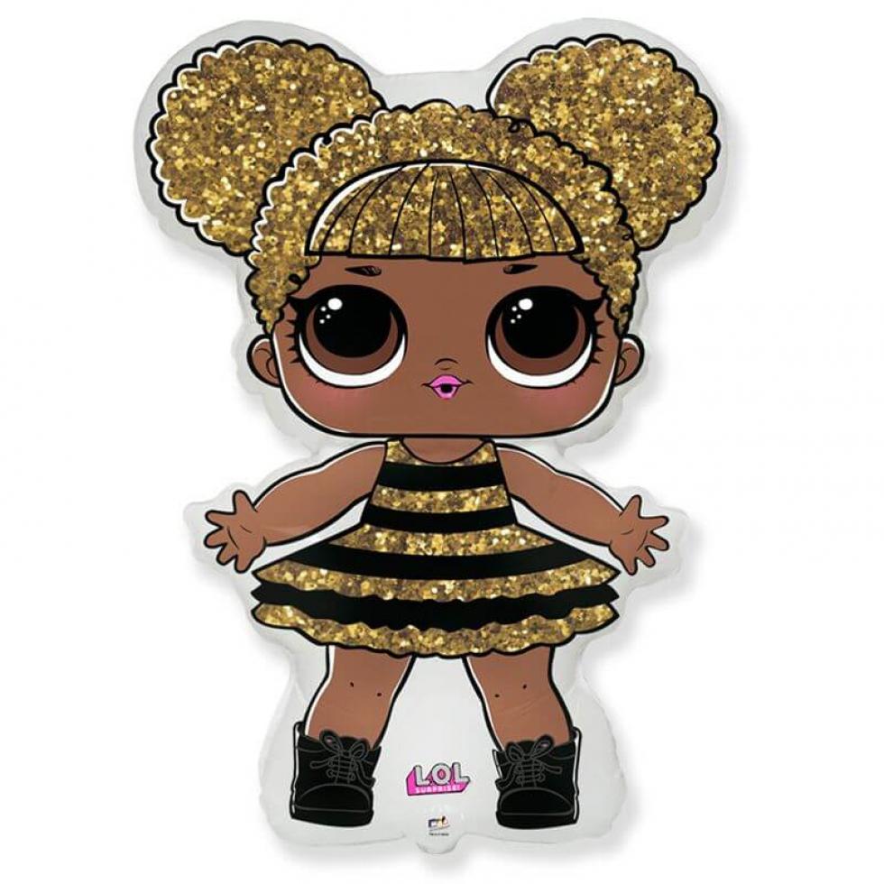 Кукла ЛОЛ королева пчел, фольгированный шар, купить, фото