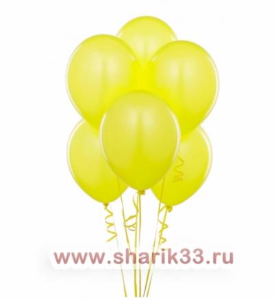 Желтые гелиевые шарики
