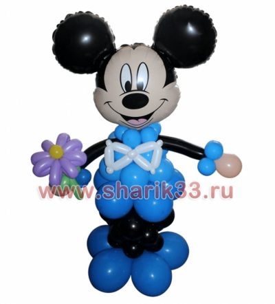 Микки (мальчик) с цветком