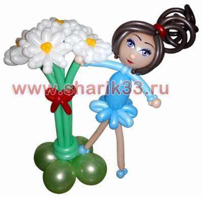 Девочка на цветах