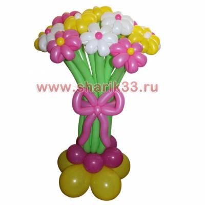 Розовая стойка с цветами (15 шт.)