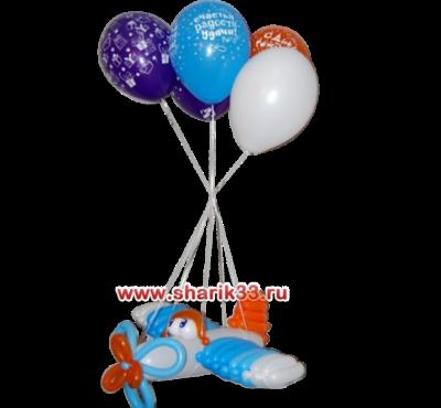 Самолетик из шаров