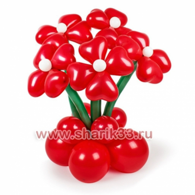 Стойка с 5 цветками