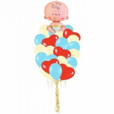 Связка из шаров для малыша