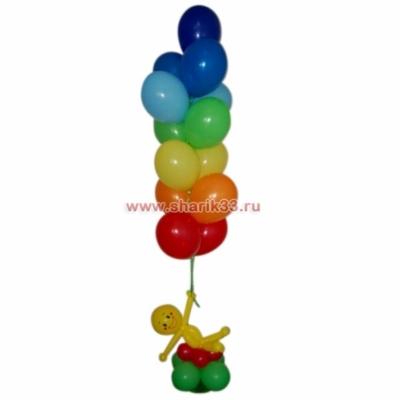 Фонтан из 13 шаров с человечком