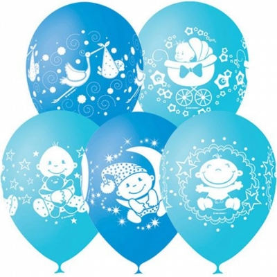 Гелиевые шары на выписку мальчика