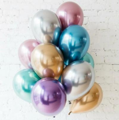 10 гелиевых шаров ХРОМ