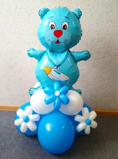 Голубой мишка для мальчика